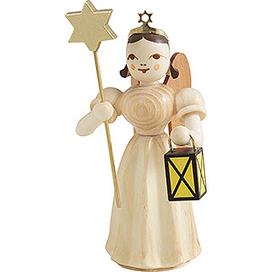 Angels Long Pleated Skirt Angels (Blank) Angel Long Pleaded Skirt with Lantern and Star - Natural - 6,6 cm / 2.6 inch