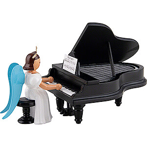 Angels Long Pleated Skirt Angels colored (Blank) Angel Long Pleated Skirt at the Piano, Colored - 6,6 cm / 2.6 inch