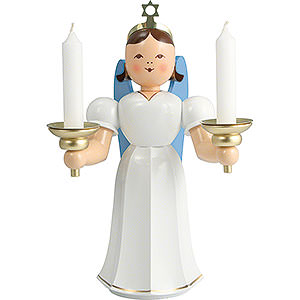 Angels Long Pleated Skirt Angels colored (Blank) Angel Long Pleated Skirt with Candle Holder, Colored - 20 cm / 7.9 inch