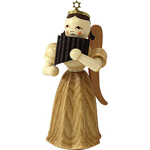 Angels Blank Novelties Angel Long Pleated Skirt with Panpipe, Natural - 6,6 cm / 2.5 inch