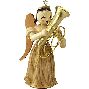 Angels Blank Novelties Angel Long Pleated Skirt with Tuba, Natural - 6,6 cm / 2.5 inch