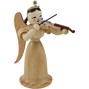 Angels Long Skirt (Blank) Angel Long Skirt with Violin with SWAROVSKI ELEMENTS, Natural - 6,6 cm / 2.5 inch