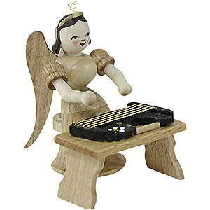 Angels Long Skirt (Blank) Angel Long Skirt with Zither Bench, Natural - 6,6 cm / 2.5 inch