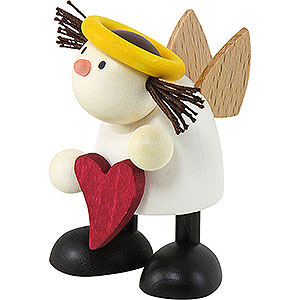 Small Figures & Ornaments Hans & Lotte (Hobler) Angel Lotte Standing with Heart - 7 cm / 2.8 inch