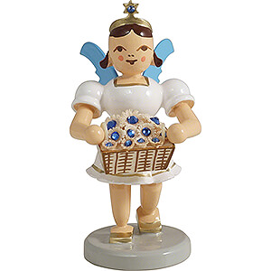 Angels Short Skirt colored (Blank) Angel Short Skirt with Flower Basket SWAROVSKI ELEMENTS - Colored - 6,6 cm / 2.6 inch