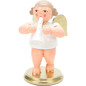 Angels Orchestra white & gold (Ulbricht) Angel White/Gold with Clarinet - 6,0 cm / 2 inch