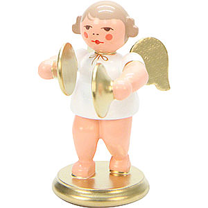 Angels Orchestra white & gold (Ulbricht) Angel White/Gold with Cymbals - 6,0 cm / 2 inch