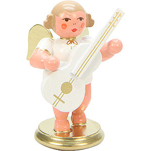 Angels Orchestra white & gold (Ulbricht) Angel White/Gold with Guitar - 6,0 cm / 2 inch