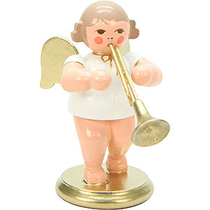 Angels Orchestra white & gold (Ulbricht) Angel White/Gold with Horn - 6,0 cm / 2 inch
