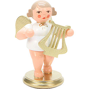 Angels Orchestra white & gold (Ulbricht) Angel White/Gold with Lyre - 6,0 cm / 2 inch