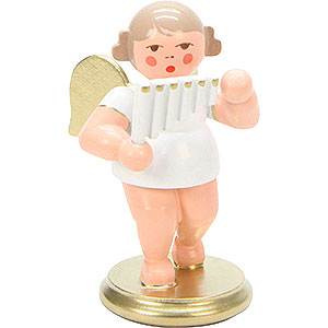 Angels Orchestra white & gold (Ulbricht) Angel White/Gold with Pan Flute - 6,0 cm / 2 inch
