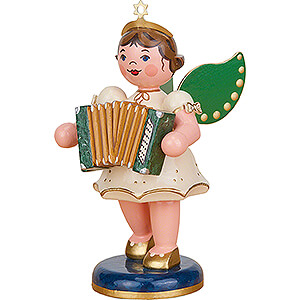 Angels Orchestra (Hubrig) Angel with Accordion - 10 cm / 3.9 inch