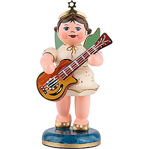 Angels Orchestra (Hubrig) Angel with Acoustic Guitar - 6,5 cm / 2,5 inch