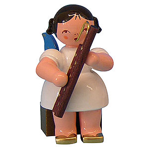 Angels Angels - blue wings - small Angel with Bassoon - Blue Wings - Sitting - 5 cm / 2 inch