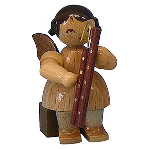Angels Angels - natural - small Angel with Bassoon - Natural Colors - Sitting - 5 cm / 2 inch