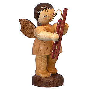 Angels Angels - natural - small Angel with Bassoon - Natural Colors - Standing - 6 cm / 2,3 inch