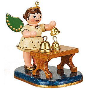 Angels Orchestra (Hubrig) Angel with Bells - 6,5 cm / 2,5 inch