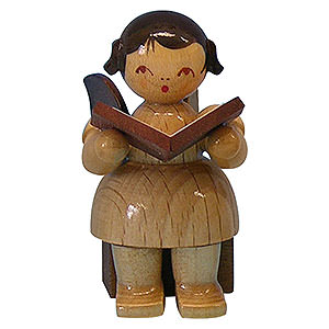 Angels Angels - natural - small Angel with Book - Natural Colors - Sitting - 5 cm / 2 inch