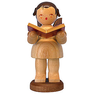 Angels Angels - natural - large Angel with Book - Natural Colors - Standing - 9,5 cm / 3,7 inch
