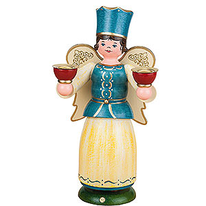 Angels Angel & Miner Angel with Candles - 22 cm / 8,7 inch