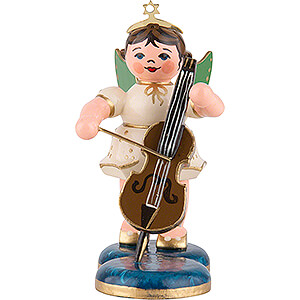 Angels Orchestra (Hubrig) Angel with Cello - 6,5 cm / 2,5 inch