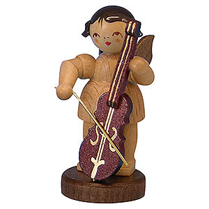 Angels Angels - natural - small Angel with Cello - Natural Colors - Standing - 6 cm / 2,3 inch