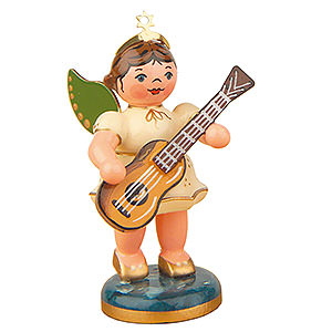 Angels Orchestra (Hubrig) Angel with Classical Guitar - 6,5 cm / 2,5 inch