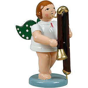 Angels Orchestra (Ellmann) Angel with Contrabassoon - 6,5 cm / 2.5 inch