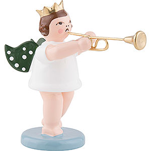 Angels Orchestra with crown (Ellmann) Angel with Crown and Aida Trumpet - 6,5 cm / 2.5 inch