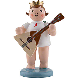 Angels Orchestra with crown (Ellmann) Angel with Crown and Balalaika - 6,5 cm / 2.6 inch