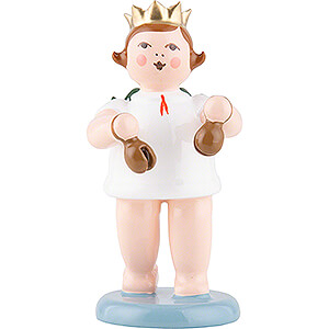 Angels Orchestra with crown (Ellmann) Angel with Crown and Castanets - 6,5 cm / 2.6 inch