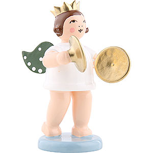 Angels Orchestra with crown (Ellmann) Angel with Crown and Cymbal - 6,5 cm / 2.5 inch