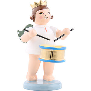 Angels Orchestra with crown (Ellmann) Angel with Crown and Drum - 6,5 cm / 2.5 inch