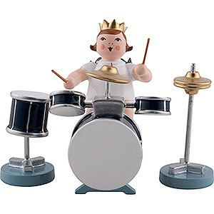 Angels Orchestra with crown (Ellmann) Angel with Crown and Drums - 6,5 cm / 2.6 inch