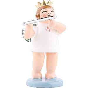 Angels Orchestra with crown (Ellmann) Angel with Crown and German Flute - 6,5 cm / 2.5 inch