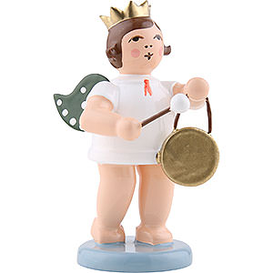 Angels Orchestra with crown (Ellmann) Angel with Crown and Gong - 6,5 cm / 2.5 inch
