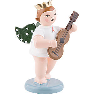Angels Orchestra with crown (Ellmann) Angel with Crown and Guitar - 6,5 cm / 2.5 inch