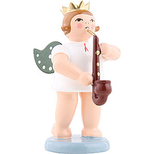 Angels Orchestra with crown (Ellmann) Angel with Crown and Heckelphone - 6,5 cm / 2.5 inch