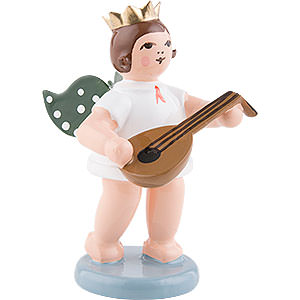 Angels Orchestra with crown (Ellmann) Angel with Crown and Lute - 6,5 cm / 2.5 inch