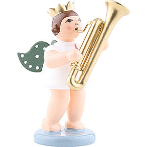 Angels Orchestra with crown (Ellmann) Angel with Crown and Sarrusophone - 6,5 cm / 2.5 inch