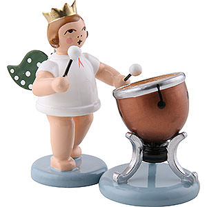 Specials Angel with Crown and Timbal - 6,5 cm / 2.5 inch
