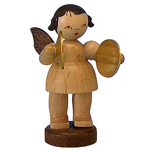 Angels Angels - natural - small Angel with Cymbal - Natural Colors - Standing - 6 cm / 2,3 inch