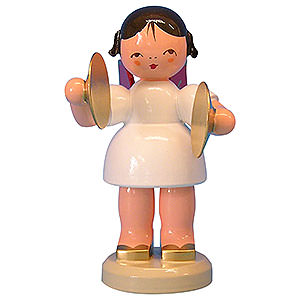 Angels Angels - red wings - large Angel with Cymbal - Red Wings - Standing - 9,5 cm / 3,7 inch
