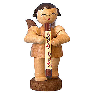Angels Angels - natural - small Angel with Didgeridoo - Natural Colors - Standing - 6 cm / 2,3 inch