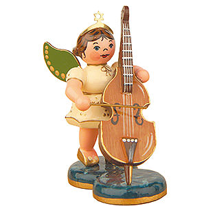 Angels Orchestra (Hubrig) Angel with Double Bass - 6,5 cm / 2,5 inch