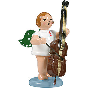 Angels Orchestra (Ellmann) Angel with Double Bass - 6,5 cm / 2.5 inch