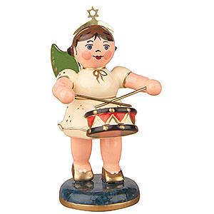 Angels Orchestra (Hubrig) Angel with Drum - 6,5 cm / 2,5 inch