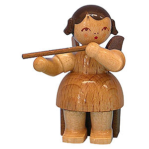 Angels Angels - natural - small Angel with Flute - Natural Colors - Sitting - 5 cm / 2 inch