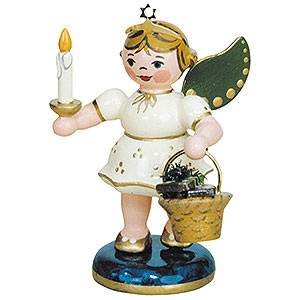 Angels Angels - white (Hubrig) Angel with Gingerbread - 6,5 cm / 2,5 inch