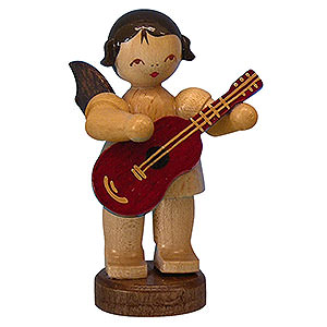 Angels Angels - natural - small Angel with Guitar - Natural Colors - Standing - 6 cm / 2,3 inch